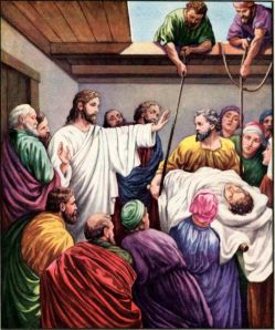 Jesus heals a paralyzed man